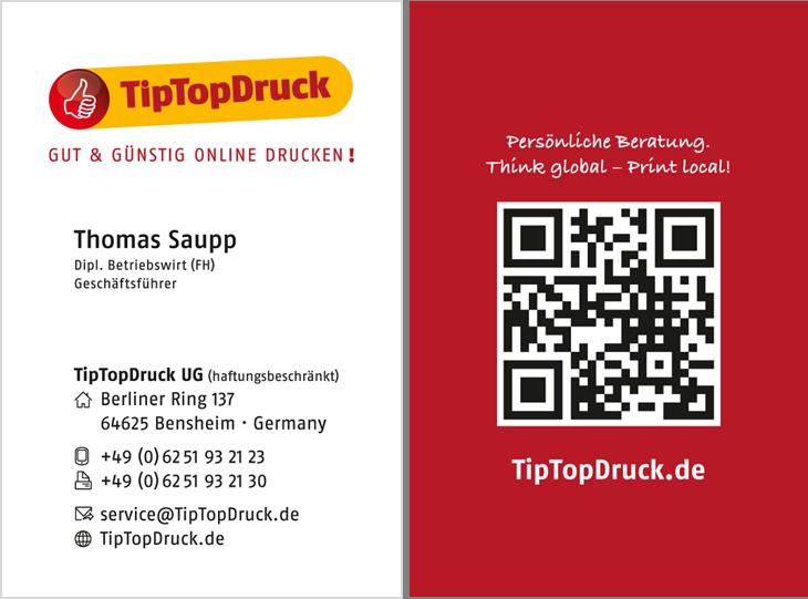 Visitenkarten Günstig Drucken Lassen Bei Tiptopdruck
